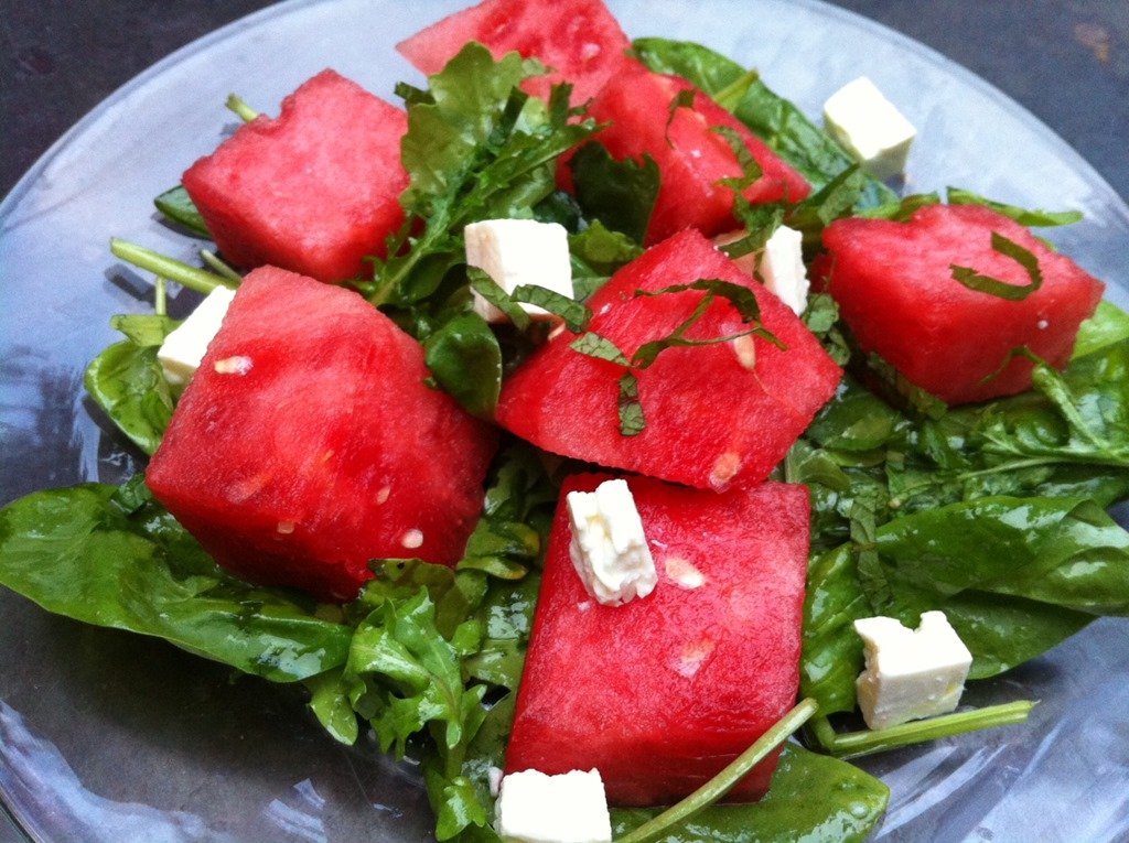 watermelon feta salad 1