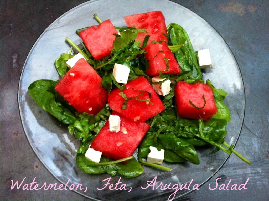 watermelon feta salad recipe dishmaps. Black Bedroom Furniture Sets. Home Design Ideas